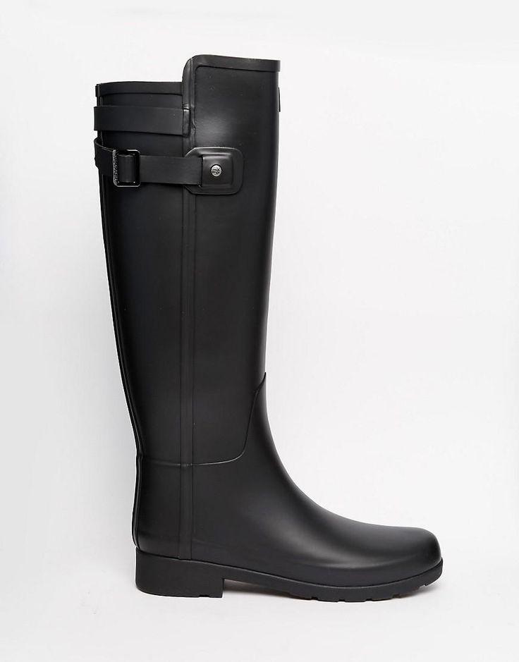 Hunter | Hunter Original Refined Back Strap Black Wellington Boots at ASOS