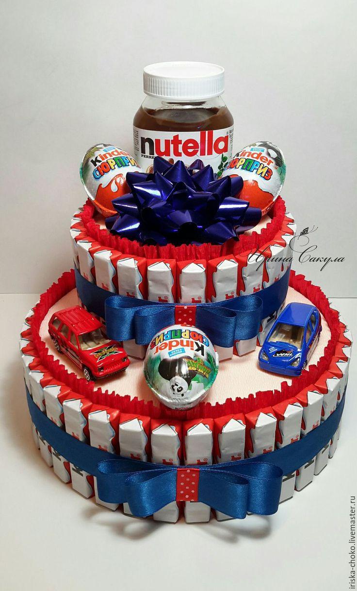 Купить ТОРТ ИЗ КИНДЕРОВ подарок для ребенка - торт из конфет, торт из киндеров, сладкий подарок