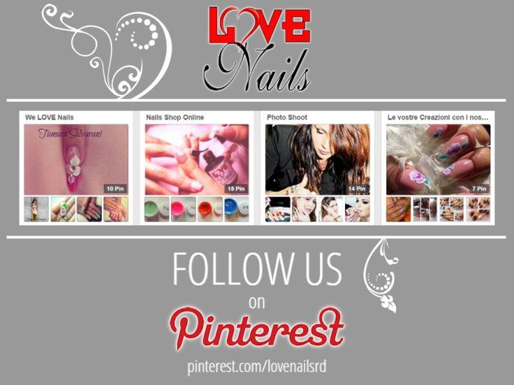 #Seguici anche su #Pinterest! www.pinterest.com/lovenailsrd  #unghie #nails #nailart #nailpolish #smalto
