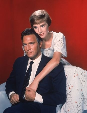 "Baron von Trapp (Christopher Plummer) And Maria (Julie Andrews) in ""The Sound Of Music"""