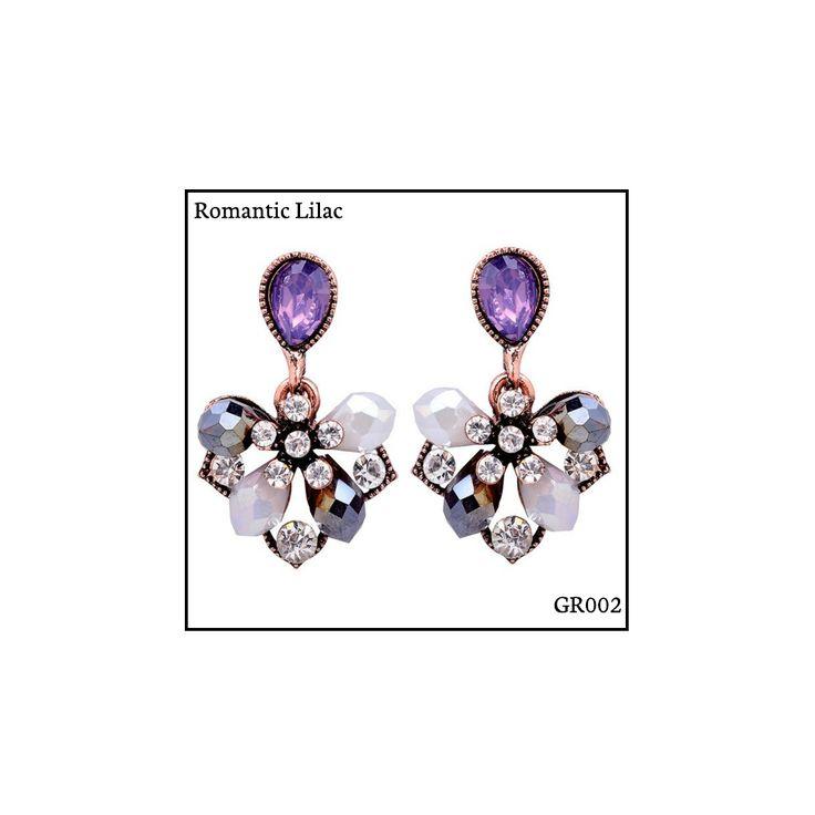 Ref: GR002 Romantic Lilac Medidas: 2.9 cm x 1.8 cm So Oh: 5.99 🌱#sooh_store #onlinestore #glam #style #brincos #earrings #fashion #shoponline