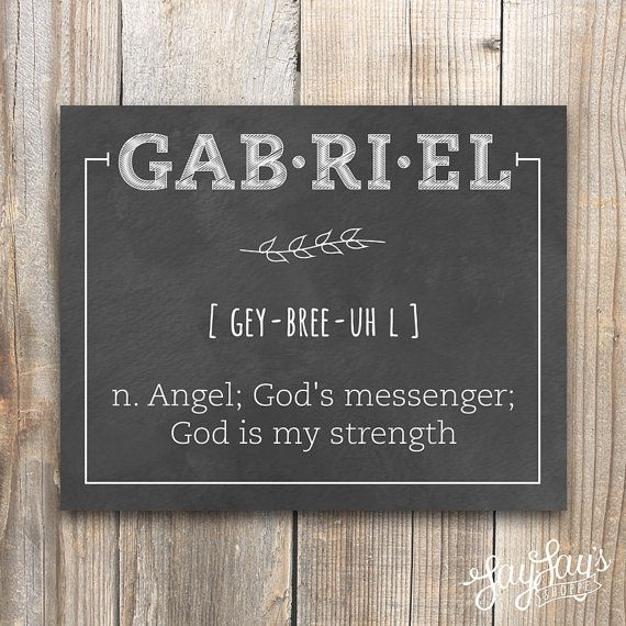 Personalized Name Definition Wall Art Print, Custom Name Meaning, Home Decor, Baby Nursery, Chalkboard, Watercolor, 5x7, 8x10