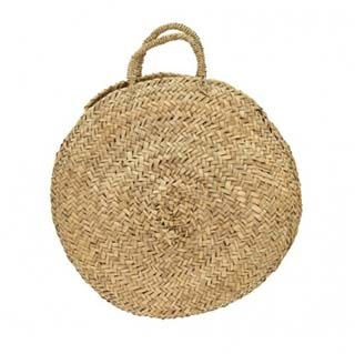 Disc shaped woven bags for holiday wear