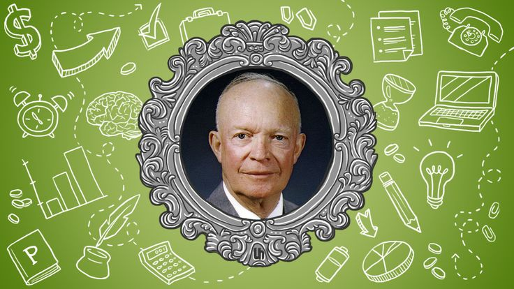 President Dwight D. Eisenhower was the 34th president and a five star general during World War II. He won his first presidential election by a landslide, built the Interstate Highway System, and created NASA. Which is to say, he was pretty productive. Let's take a look at a few of his best tricks for getting all that done.