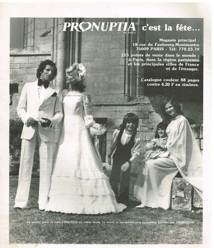 Publicité Advertising 1977 Robe DE Mariée Pronuptia | eBay