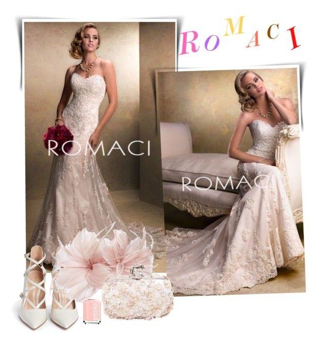 romaci abiti da sposa by romaci on Polyvore featuring Gianvito Rossi, Alexander McQueen, Untold and Essie