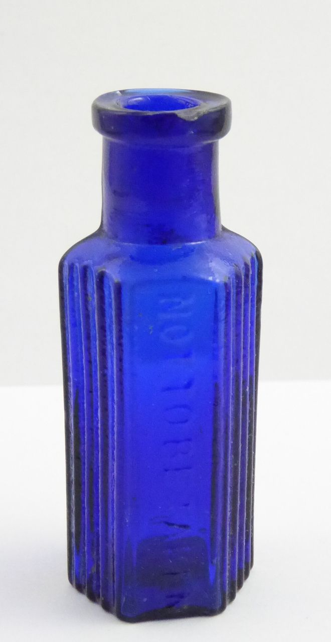Cobalt Blue 1/2 oz 1800s Antique Glass Poison Bottle Embossed 'Not to be Taken' - The Collectors Bag