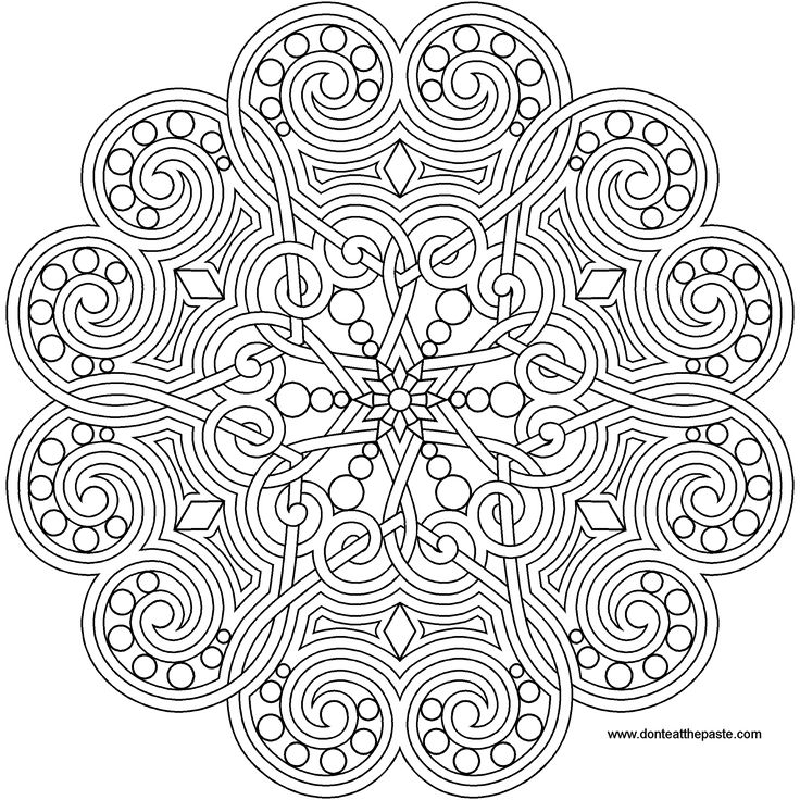 A Heart Mandala To Print And Color Also Available In