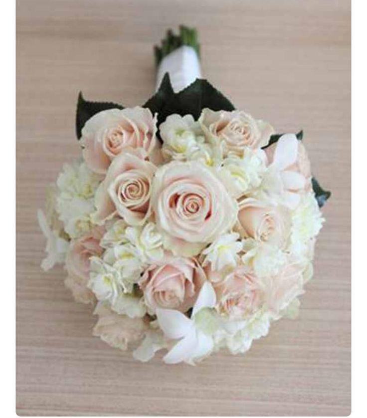 Peach Sweet Avalanche Rose & Hydrangea Bouquets