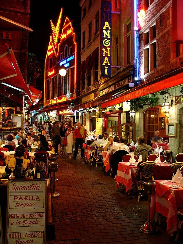 Rue des Bouchers, Brussels, Belgium