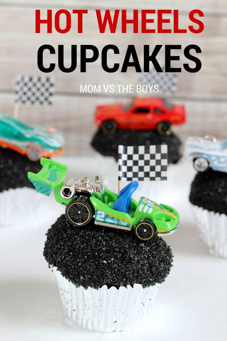 Hot Wheels Birthday Party + Cupcakes