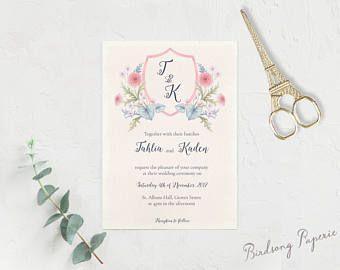 Tenderly Printable Wedding Invitation Suite on Etsy.  #etsy #weddingstationery #invitation #weddinginvitation #wedding #illustration #stationery #papergoods #eventstationery #birdsongpaperie #weddingplanning #printableinvite #weddinginvite