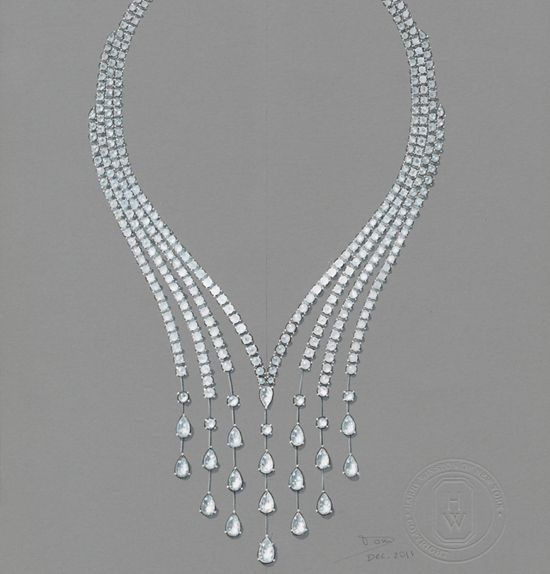 Water Collection_Drop Necklace Harry Winston