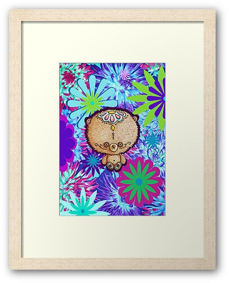"""""""Hippy Teddy"""" by I Love the Quirky - Framed Print - available in a variety of sizes and frames"""