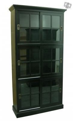 Vitrinskåp skjutdörrar, vit 110x40x210cm 3950