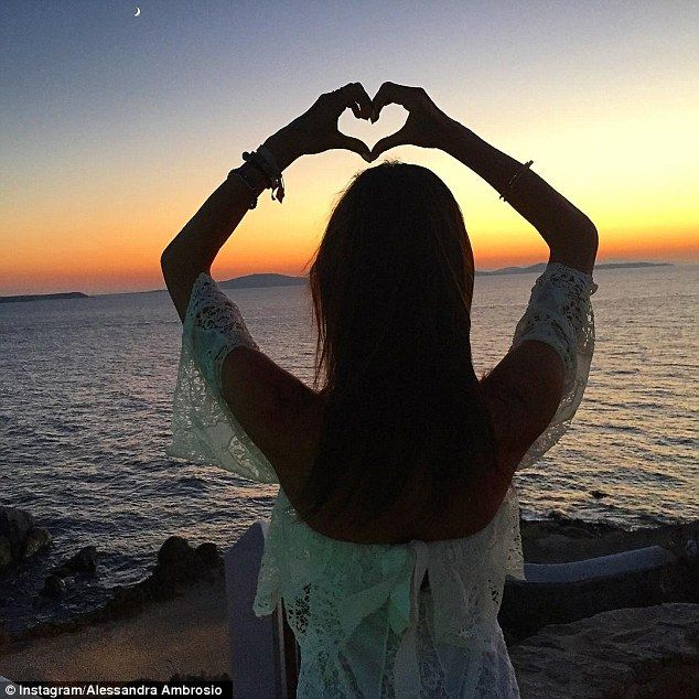 Loving Mykonos: It seems Alessandra has fallen in love with the European island as she's posted 44 pictures from Mykonos over the weeks