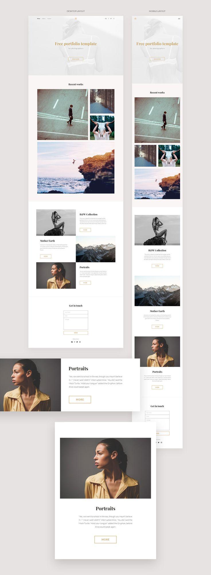 Die besten 25+ Free portfolio template Ideen auf Pinterest ...