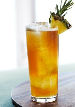 This complicated beer cocktail requires some legwork (tea-infused aperitif and a rosemary-pineapple shrub, to be specific), but it's worth the effort. #brunchcocktails