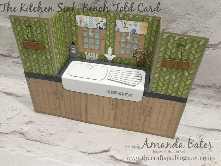 The Kitchen Sink card by Amanda Bates at The Craft Spa. Independent Stampin' Up! UK Demonstrator, Blogger & Online Shop