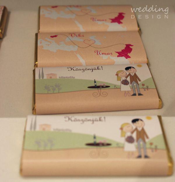 Chocolate wedding favour - Csokis esküvői köszönetajándék