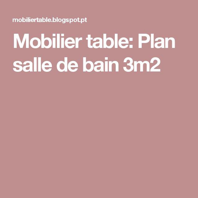 Mobilier table: Plan salle de bain 3m2