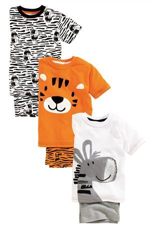 Buy Zoo Animals Pyjamas Three Pack (9mths-6yrs) from the Next UK online shop