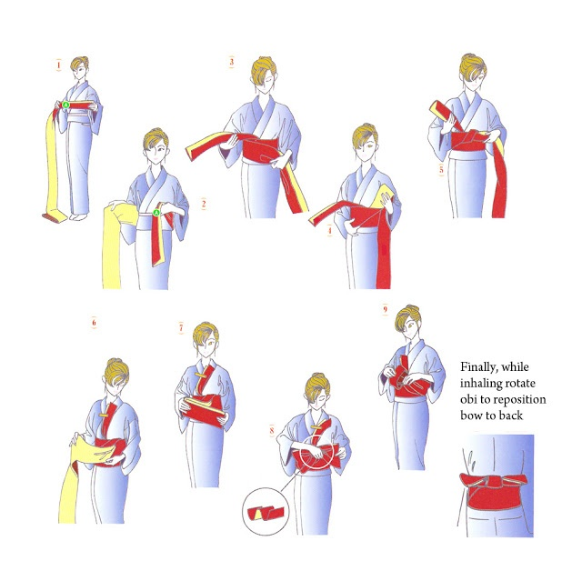 How to knot women's OBI