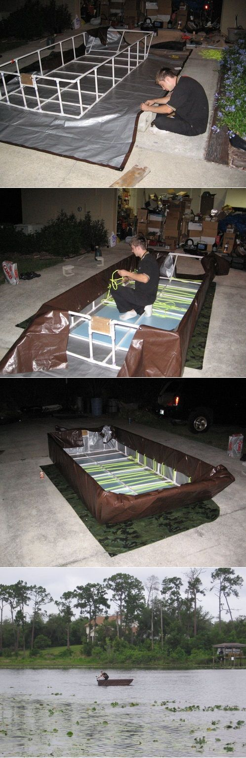Build Your Own PVC Boat Project – Thrifty Functional & Floats - The Homestead Survival - fishing - boat- boating
