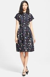 kate spade new york balloon print fit & flare shirtdress