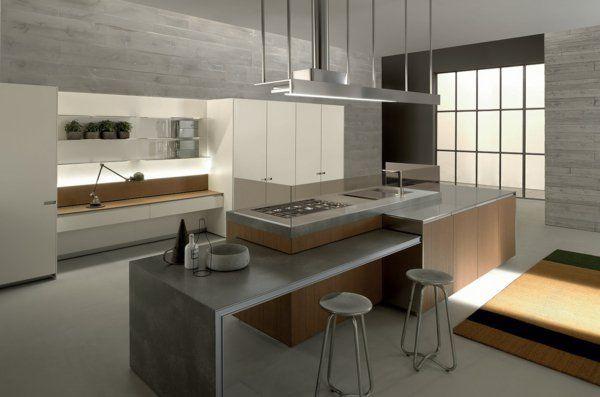 küchenarbeitsplatten Arbeitsplatte Betonoptik küchenplatte fenster