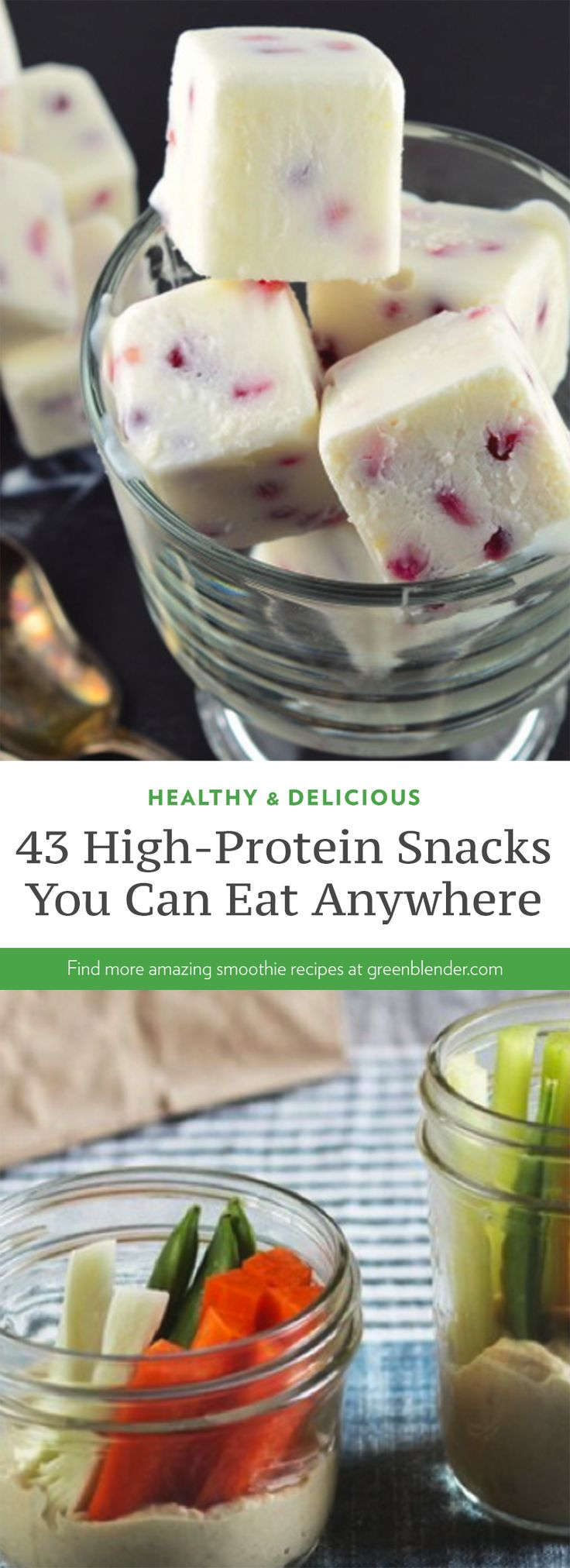 43 high protein snacks you can eat anywhere by GreenBlender  @ReTweetNGro
