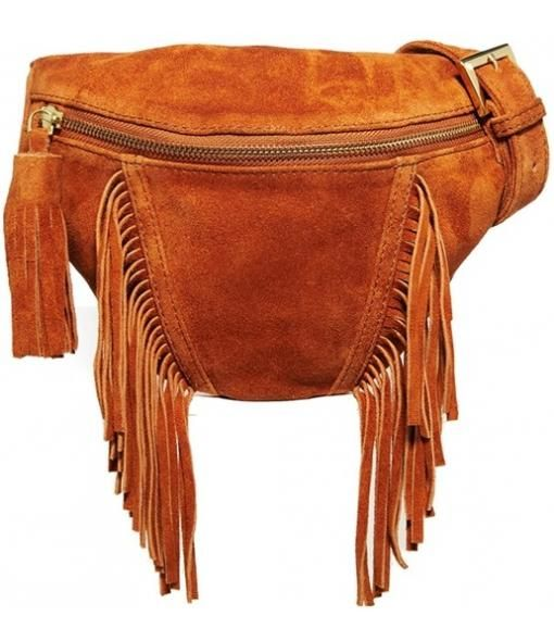 Retro Suede Fringed Fanny Pack