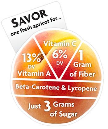Apricot  Nutrition Infographic