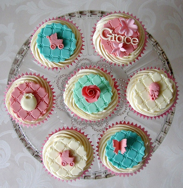 Christening Cupcakes for Grace by RubyteaCakes, via Flickr