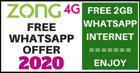 Free Zong Whatsapp Package 2020 Free Daily Weekly And Monthly In 2020 Internet Packages Coding Internet Offers