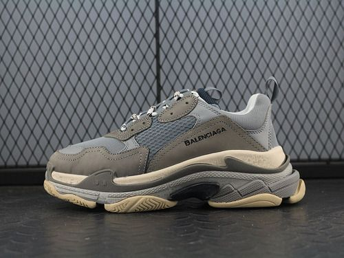 031415ff2f89 Balenciaga 17FW autumn and winter Balenciaga Triple-S Sneaker fashion retro  platform to do the old grandfather shoes dark gray old beige ...