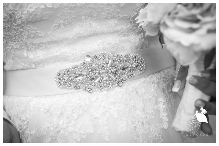 A lovely wedding belt with a beautiful beaded design!