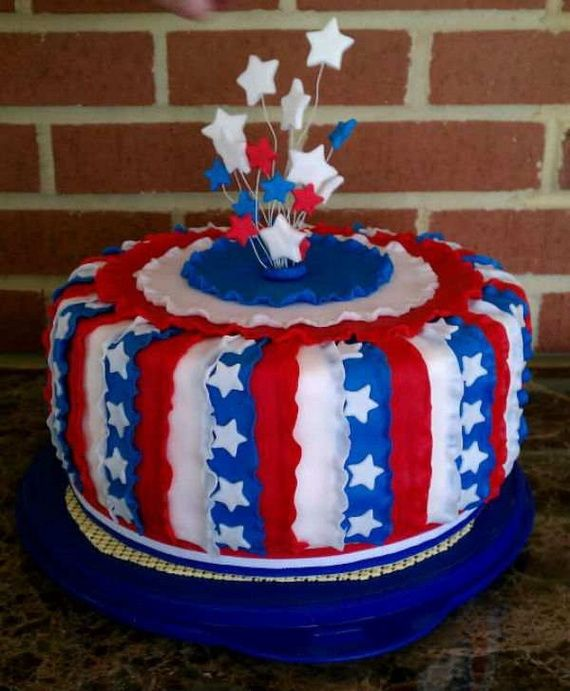 4th of july cake decorations