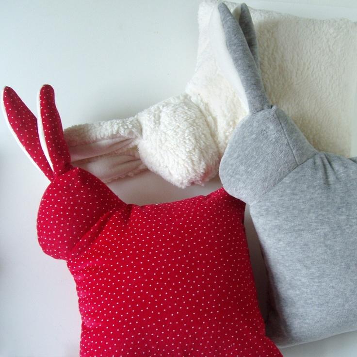 Must. Have. Bunny. Pillow. @Elizabeth Lockhart Wilson Pillows Pinterest Animals, Bunnies ...