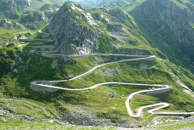 south side of the Gotthard Pass above the town of Airolo (Ticino) Switzerland