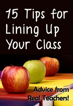 Corkboard Connections Advice from Real Teachers Series: 15 Tips for Lining Up Your Class