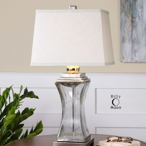 """Found it at Wayfair - Fulco 28.5"""" H Table Lamp with Rectangular Shade"""