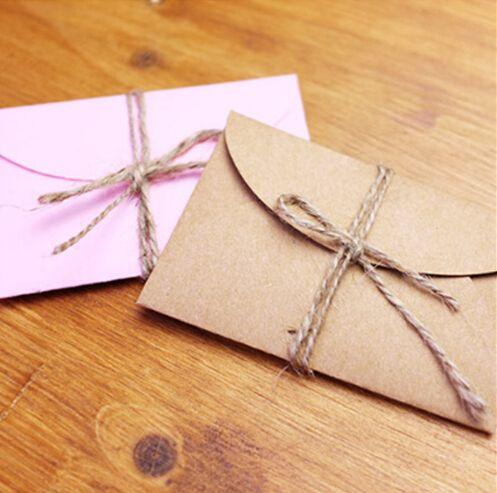 50 pz/lotto Handmade Mini Carta del Mestiere Busta Marrone E Rosa Sacchetto di Carta FAI DA TE Multifunzione Busta Regalo per la Cerimonia Nuziale Festa di Compleanno(China (Mainland))