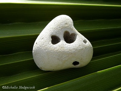 Hearts in a heart shaped rock.