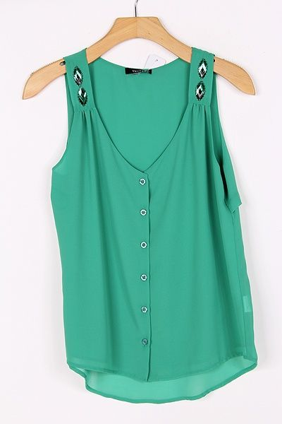 Chiffon Latika Top in Paris Green