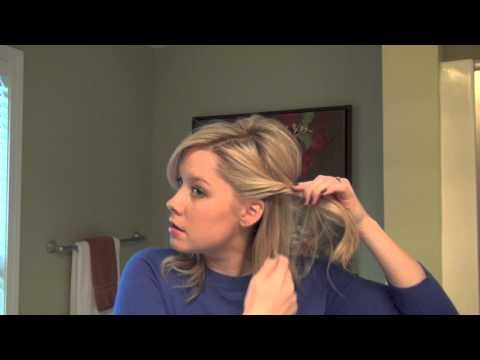 Real Simple Holiday Hair Tutorial Video: Half-Up - YouTube
