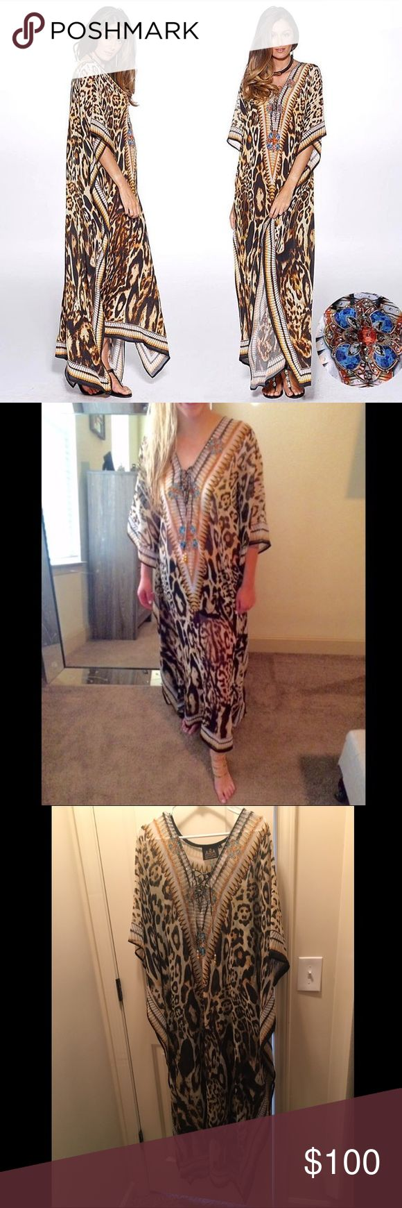 Asa Kaftan (as seen on Shahs of Sunset) BEAUTIFUL kaftan by Asa from Shahs of Sunset. Asa Kaftans Swim Coverups