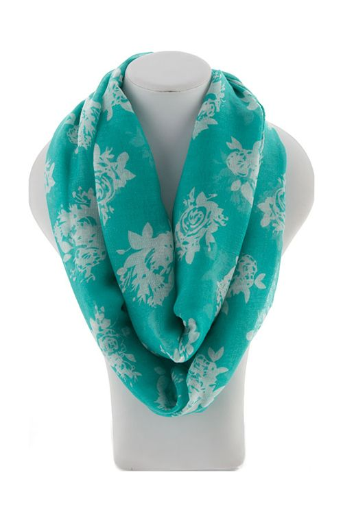 Milla Infinity Scarf in Turquoise