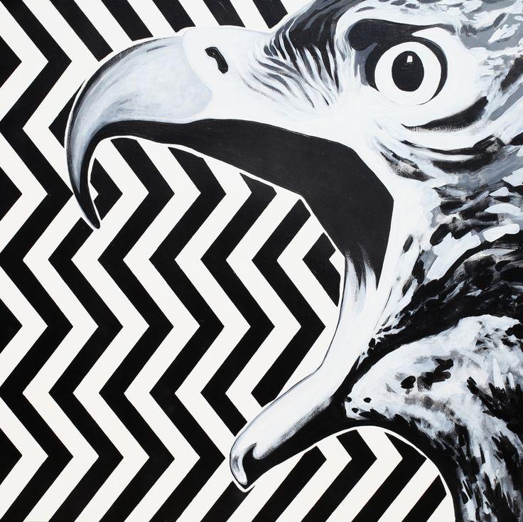 Maciej Zabawa – Acrylic on canvas 100 x 100 cm,
