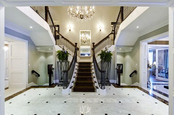 Best Foyer Opens To Marble Stair Hall With Elegant T Shape 400 x 300